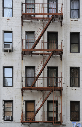 New York City building stairway - 33745977