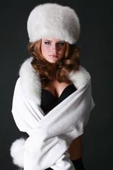 毛皮の帽子