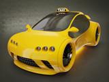 Fototapety yellow taxi