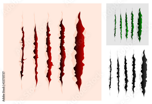 Vector slashes collection of a different colors