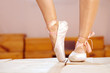 Female feet in pointes