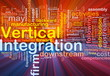 Vertical integration background concept glowing