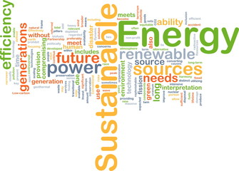 Sustainable energy background concept