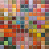 Fototapety Mosaic wall with glass tiles with reflection