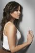 Young beautiful woman studio fashion shot