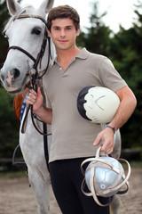 A young horseback rider