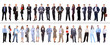 Crowd or group of business people isolated in