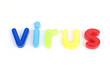 colorful virus letters