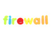 colorful firewall letters