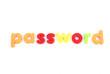 colorful password letters