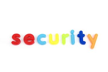 colorful security letters