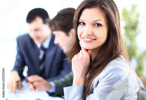 Portrait of a Happy business woman smiling at camera