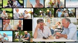 Montage of active elderly couples