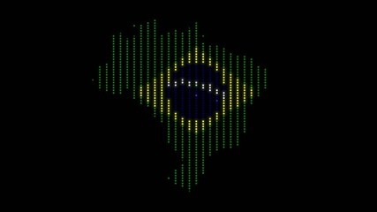 lightsup brazil with brasil maped flag