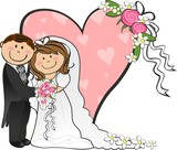 Fototapety Newlywed couple