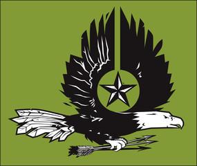 War Eagle Woodcut