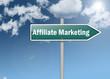 "Signpost ""Affiliate Marketing"""
