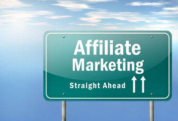 "Highway Signpost ""Affiliate Marketing"""