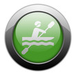 "Green Metallic Orb Button ""Kayaking"""