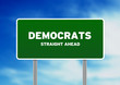 Green Democrats Highway Sign