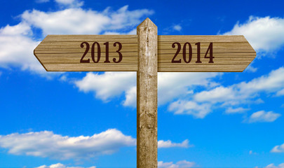 Wooden Signpost - 2013 to 2014