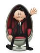 businessman in an egg chair