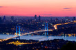 Istanbul Bosporus Bridge on sunset