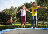 Fun with garden trampoline