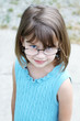 Little girl wearing glasses