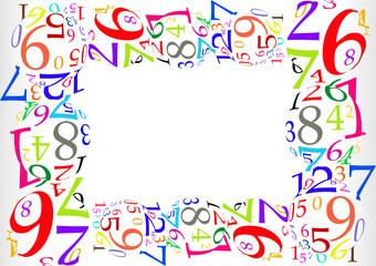 Marco de números de colores