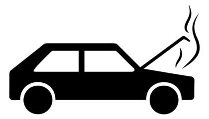 Motorschaden Symbolbild Piktogramm