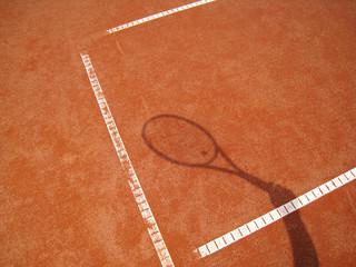 Tennisschläger Schatten 2