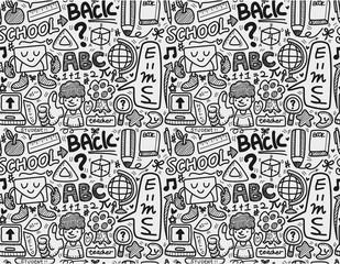 seamless school pattern.