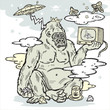 Gorilla with TV