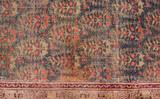 beautiful paisley design on vintage carpet ,India, Asia poster