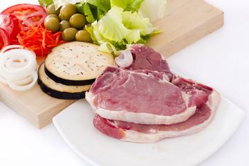 carne y vegetales