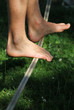 feet on slackline