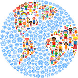 Fototapety planet of kids, colorful vector illustration