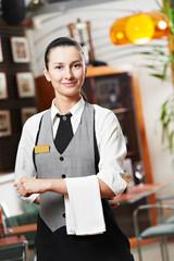 Waitress girl of commercial restaurant
