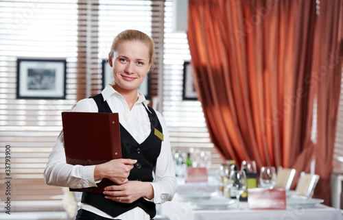 restaurant manager woman at work place