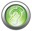 "Green glossy 3D effect button ""Hearing Impairment"""