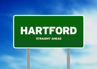 Hartford, Connecticut Highway Sign
