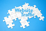 Puzzle mit Website Traffic