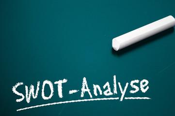 Tafel mit SWOT-Analyse
