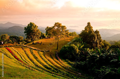 Landscape on a mountain in Chiang Mai.