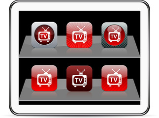TV red app icons.