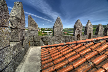 Top of Guimarães Castle keep, Portugal.