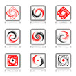 Design elements with spiral movement.