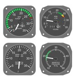Aircraft gauges set #1