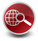 "Red Glossy Icon ""Search"""